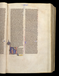 Historiated Initial With God Appearing To Moses, In 'The Bible Of William Of Hales'